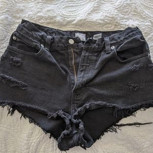 Calvin Klein black denim shorts